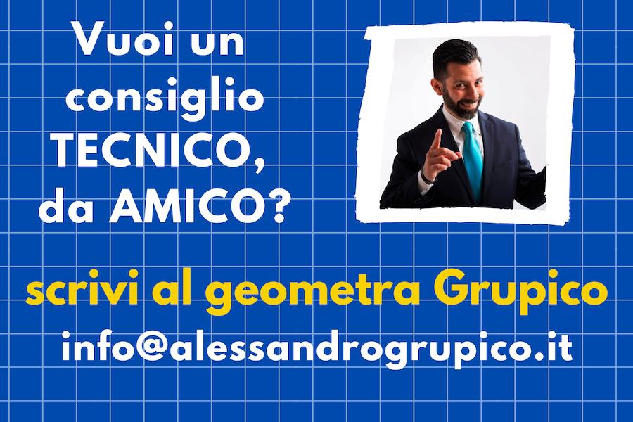 Alessandro Grupico, geometra amico